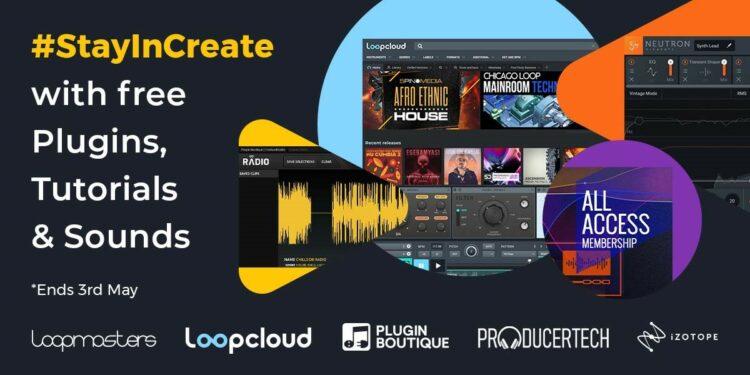 Набор бесплатных плагинов StayInCreate от Plugin Boutique, iZotope и Loopmasters