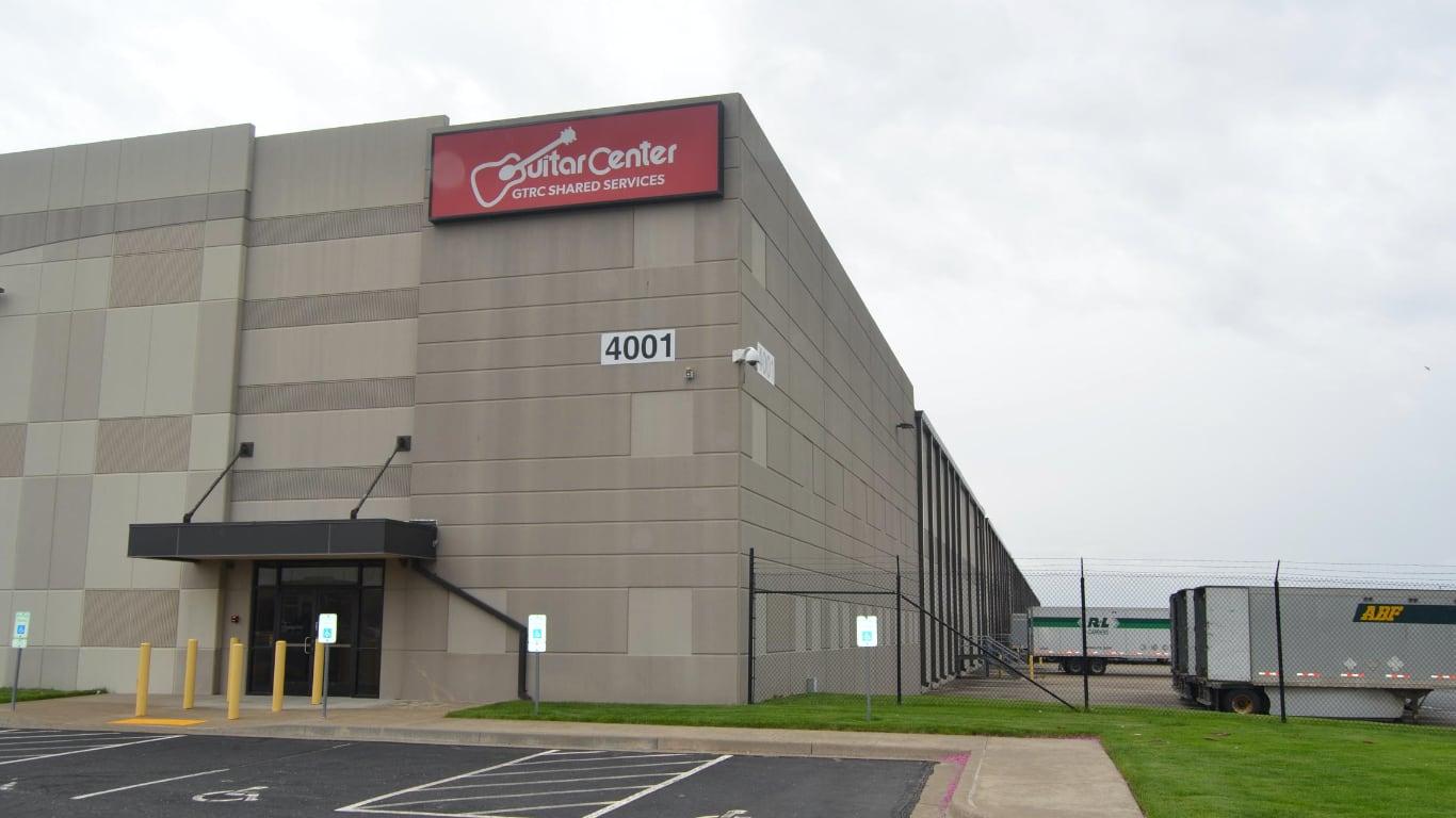 Склад Guitar Center в Канзас-Сити