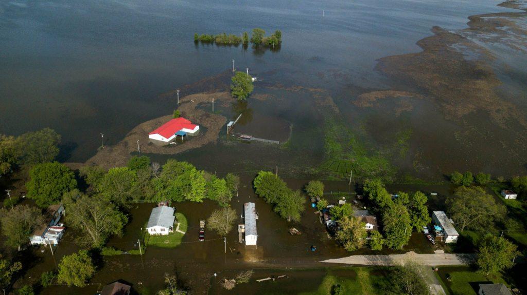 Затопление реки Миссисипи