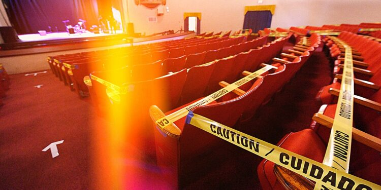 Концертный зал в США принял социально-дистанцированный концерт