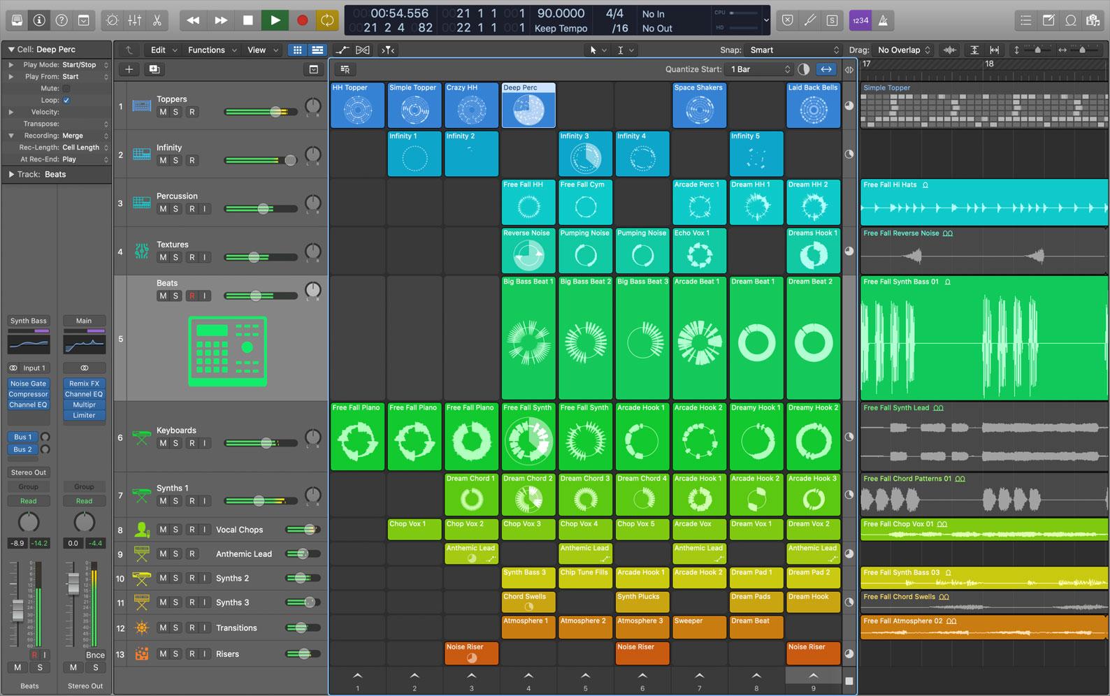 Logic Pro X 10.5 Live Loops