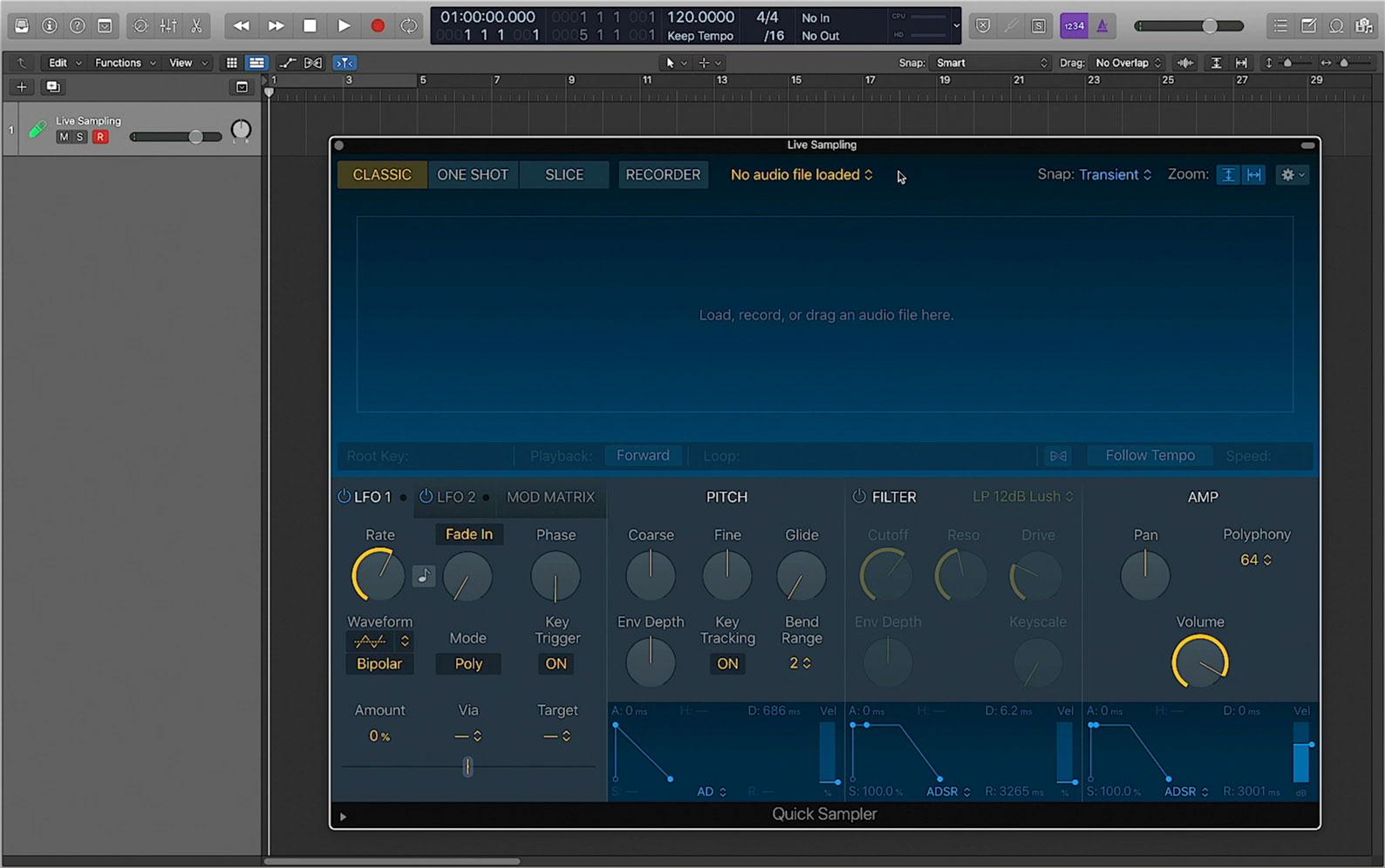 Logic Pro X 10.5 Quick Sampler