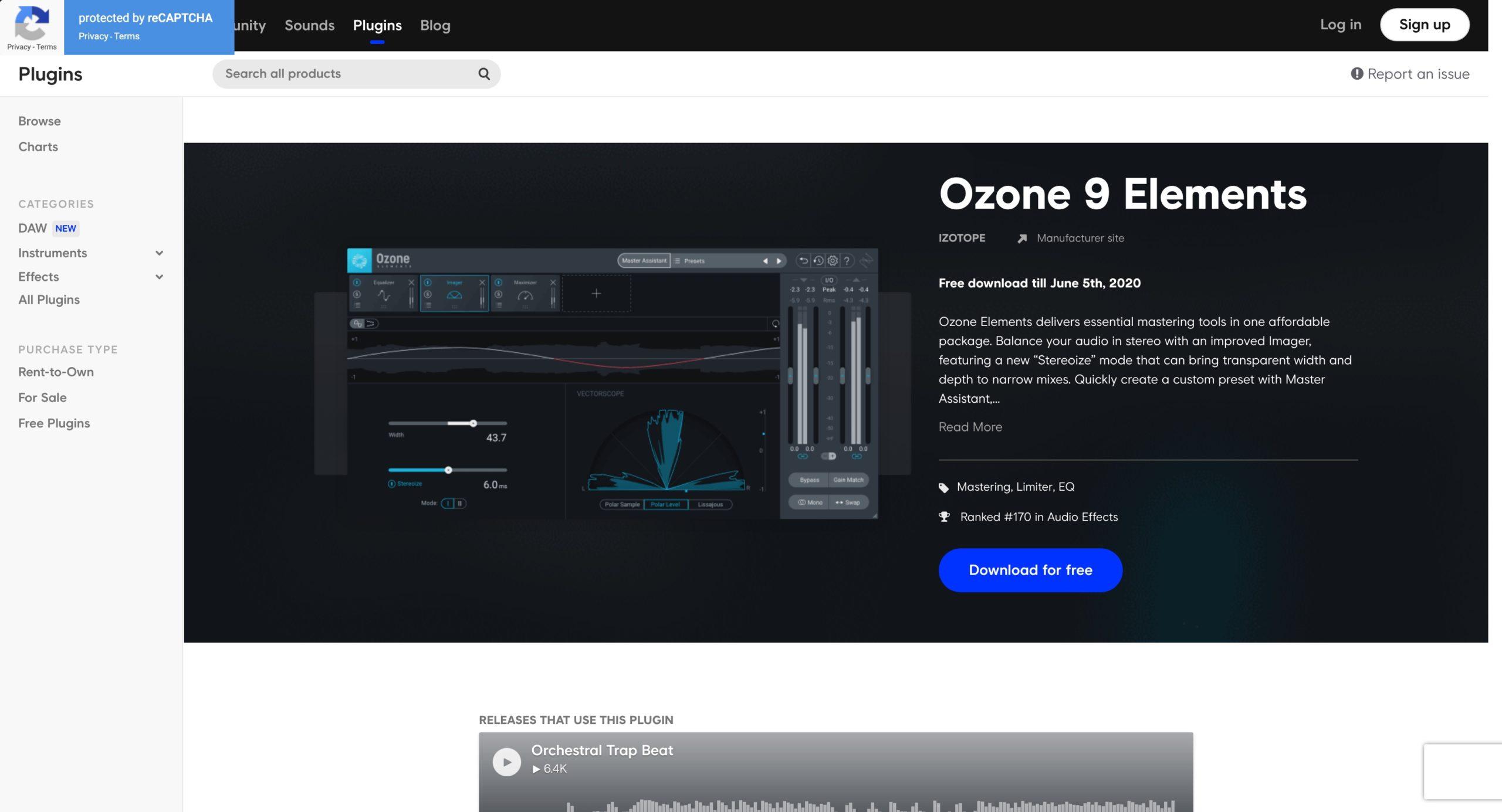 iZotope Ozone 9 Elements скачать бесплатно