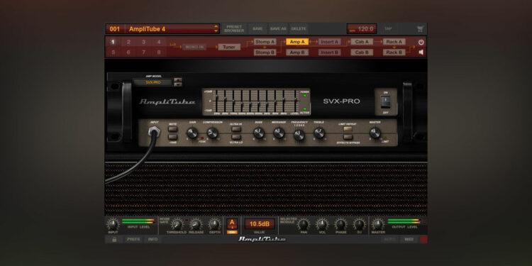 IK Multimedia AmpliTube SVX скачать бесплатно