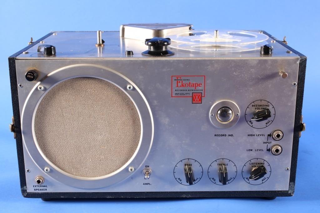 Vintage Webster Ekotape Reel-to-Reel Recorder