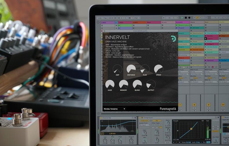 Puremagnetik выпустили бесплатный плагин Innervelt— «мрачную дым-машину» для креативной обработки сигнала