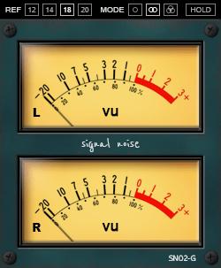 Sender Spike SN02 VU Meter