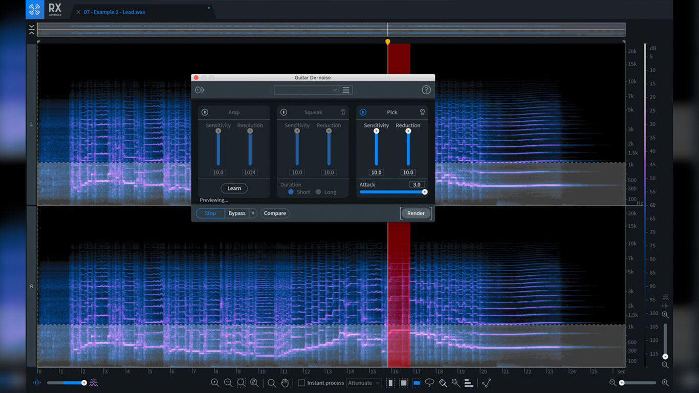 iZotope RX8 Guitar De-Noise