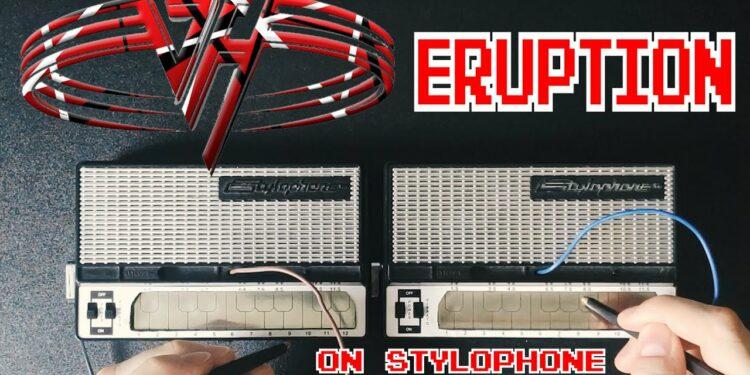 Кавер Van Halen Eruption на двух стилофонах