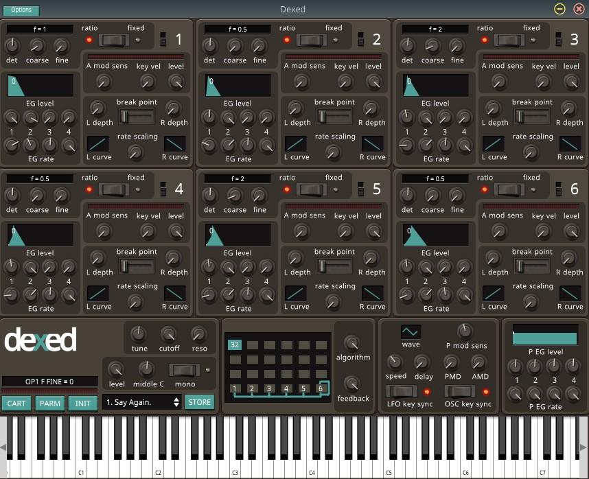 VST-синтезатор dexed