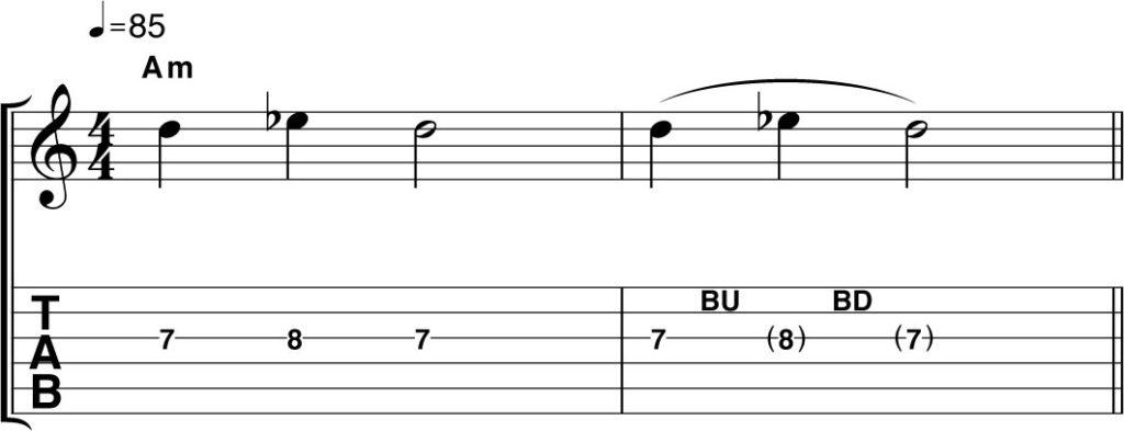 как делать бенды на гитаре