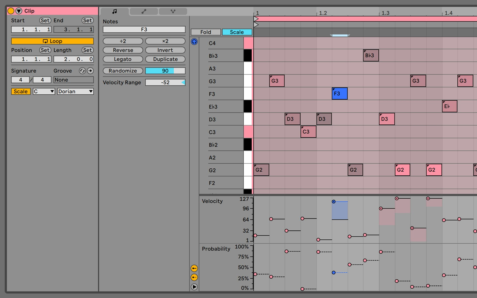 Ableton Live 11 Note Chance