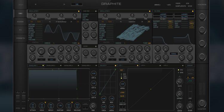 Spore Sound Graphite— бесплатный VST/AU-синтезатор отукраинских разработчиков