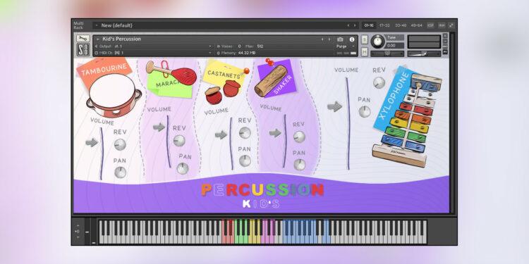 Splash Sound Kid's Percussion бесплатная библиотека детской перкуссии