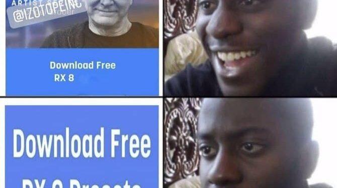 Когда предложили скачать iZotope бесплатно...