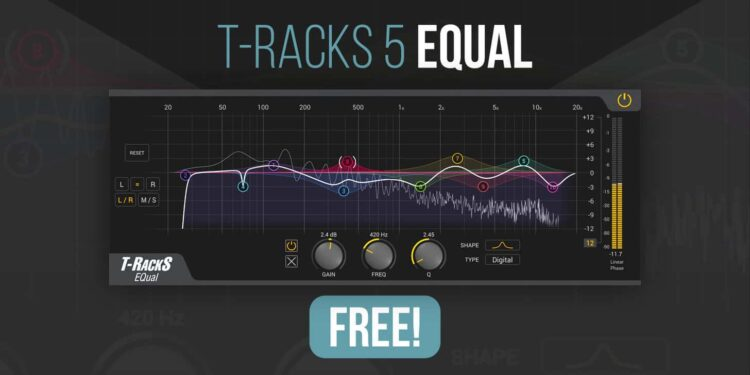 Эквалайзер T-RackS 5 EQual можно скачать бесплатно до 21 ноября на Bedroom Producers Blog