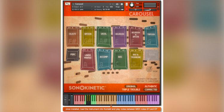 Sonokinetic Carousel библиотека ярмарочного органа и ярмарочной карусели