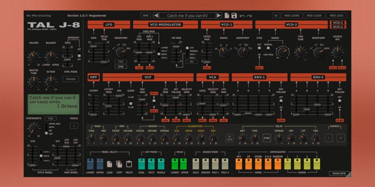 TAL-J-8 виртуальная копия Roland Jupiter-8