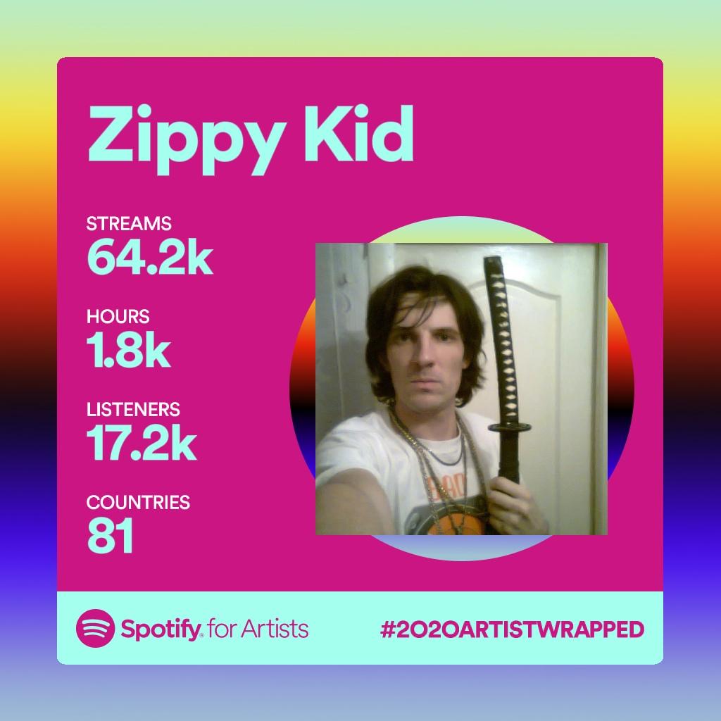 Zippy Kid Spotify 2020 Wrapped Out