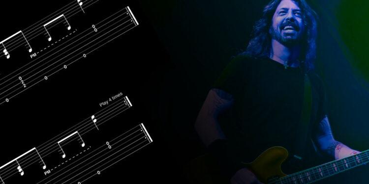 Дэйв Грол Игра на гитаре как на барабанах
