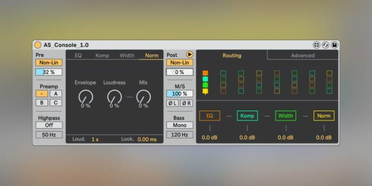 Sabroi AS Console Ableton Live Max for Live