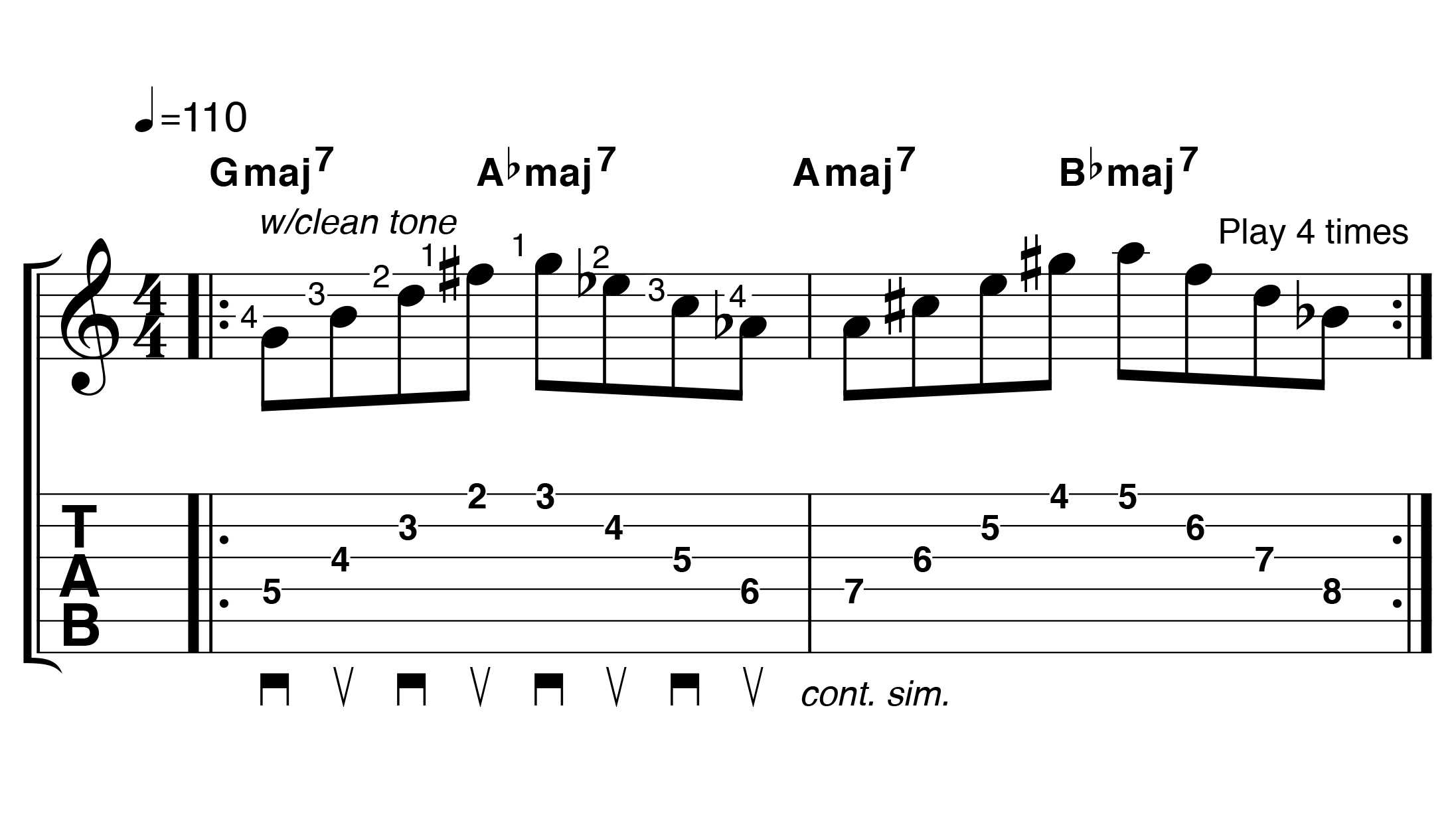 Разминочное упражнение Марка Нопфлера для гитаристов