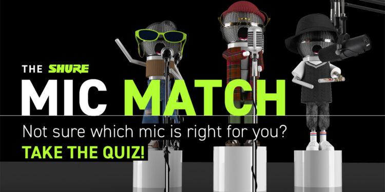 Shure Mic Match онлайн сервис выбора микрофона