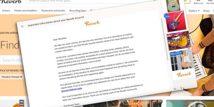 Утечка данных пользователей на Reverb