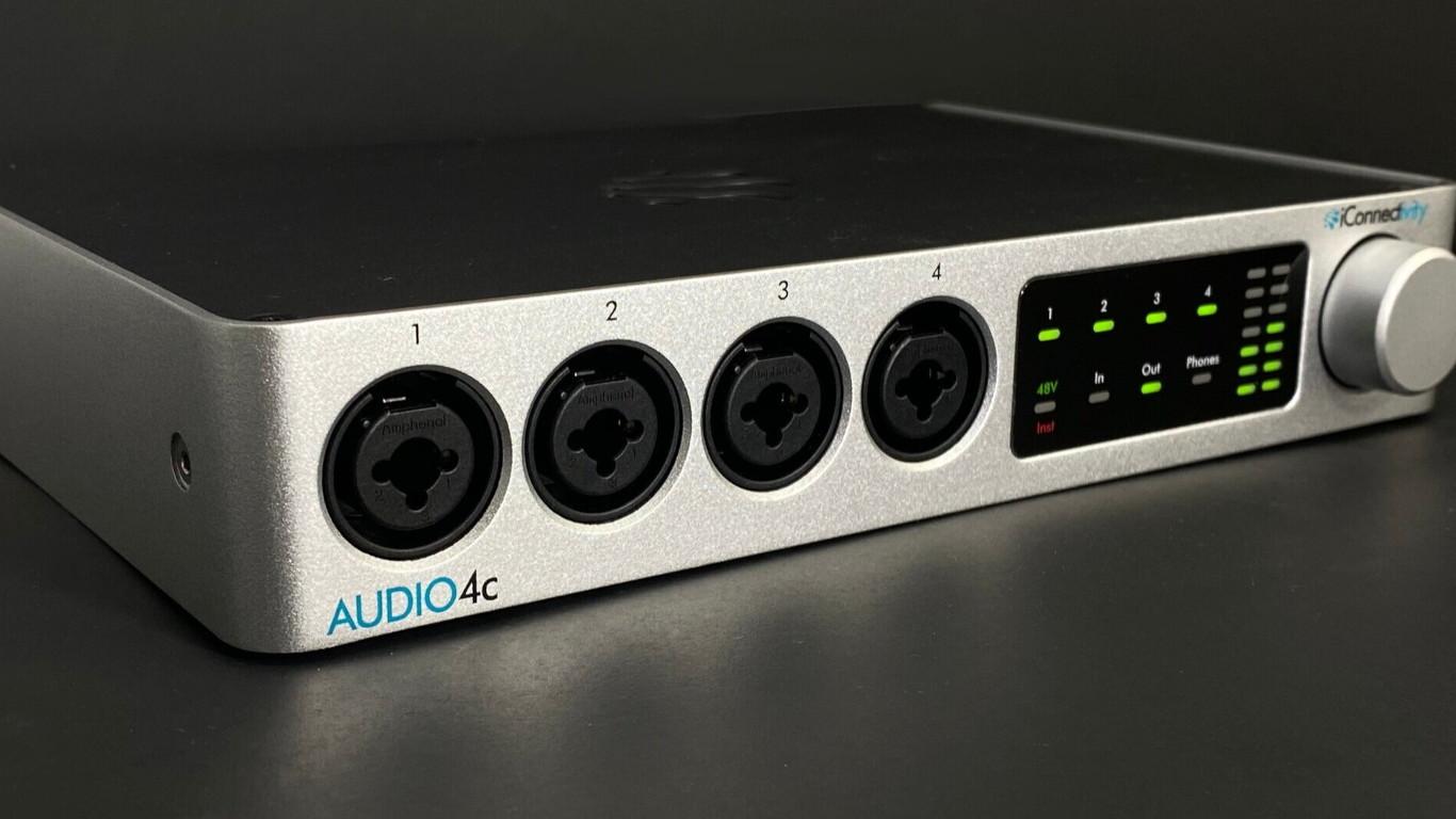 Аудиоинтерфейс iConnectivity Audio4c работает с сигналом двух компьютеров одновременно