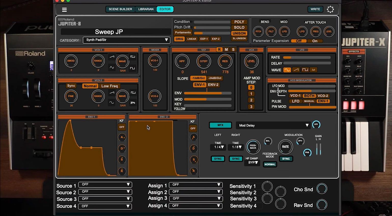 Roland Jupiter-X Editor GUI
