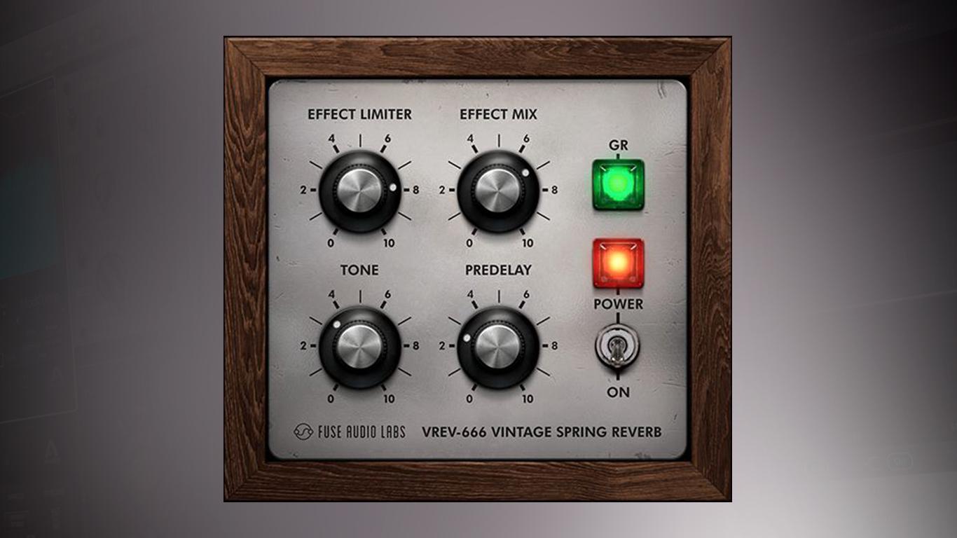 Бесплатный ревербератор Fuse Audio Labs VREV-666 воссоздаёт работу редкого эффекта 1960-х годов