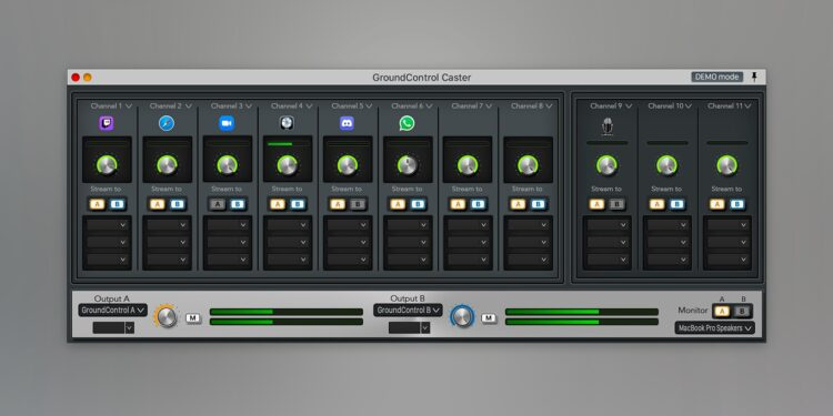 Ginger Audio GroundControl Caster программа для организации стримов и подкастов macOS