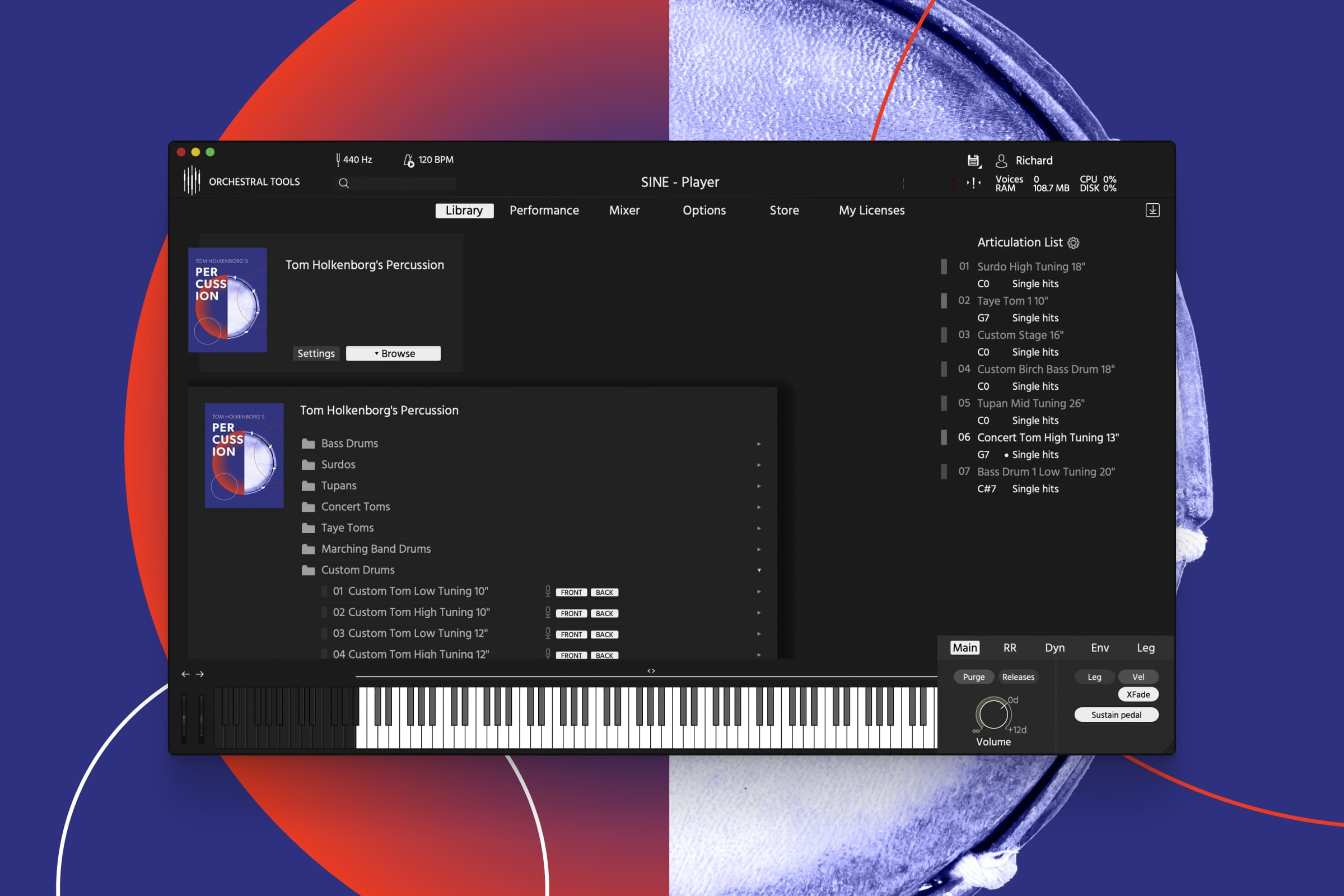 Orchestral Tools Tom Holkenborg Percussion