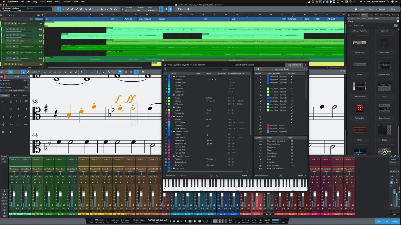 PreSonus Studio One 5.3 Dynamics Markings and Sound Variations