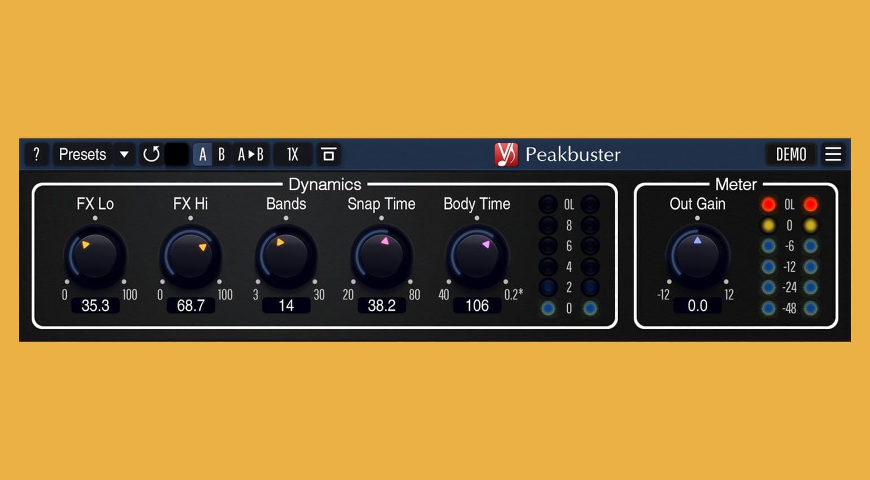 Voxengo Peakbuster: многополосный бустер транзиентов и гармонический энхансер