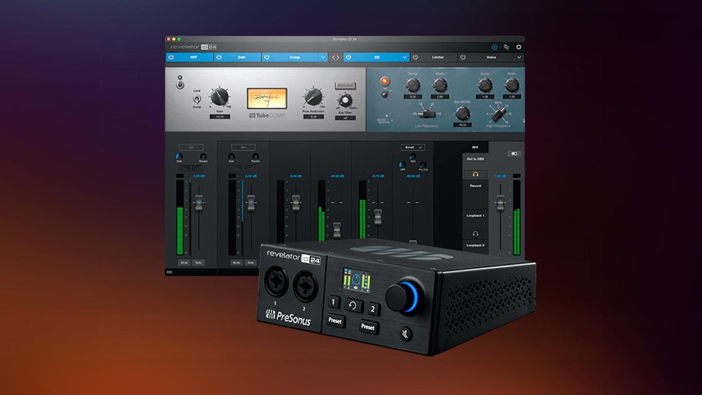 PreSonus Revelator io24 аудиоинтерфейс для авторов подкастов