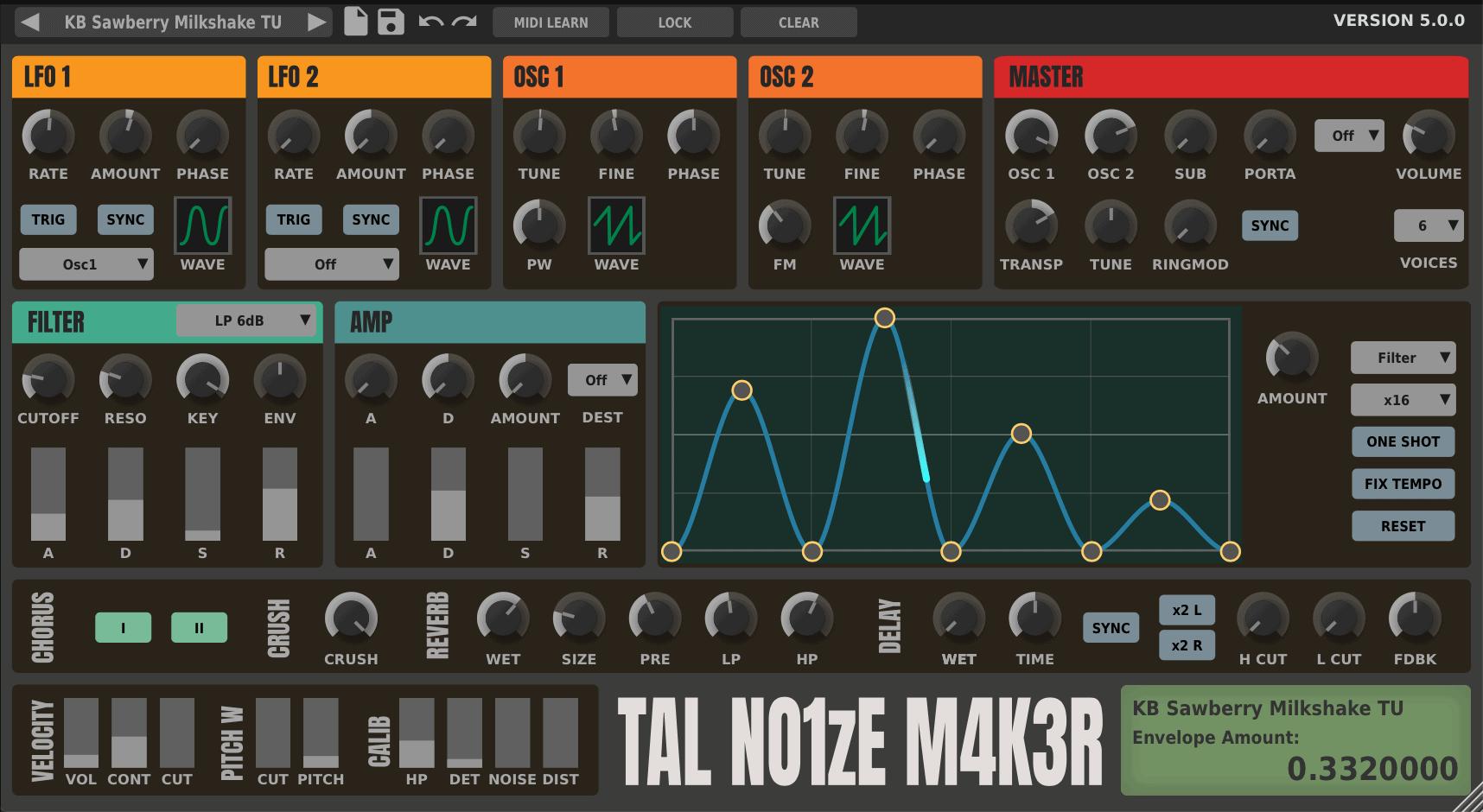 TAL-NoiseMaker 5.0.0 с новым интерфейсом
