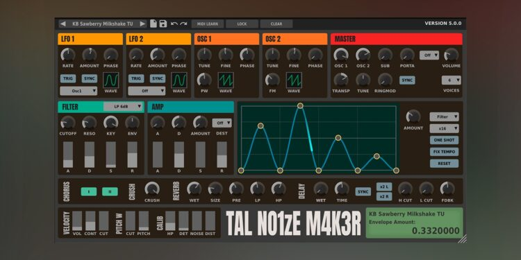 TAL-NoiseMaker получил новый интерфейс