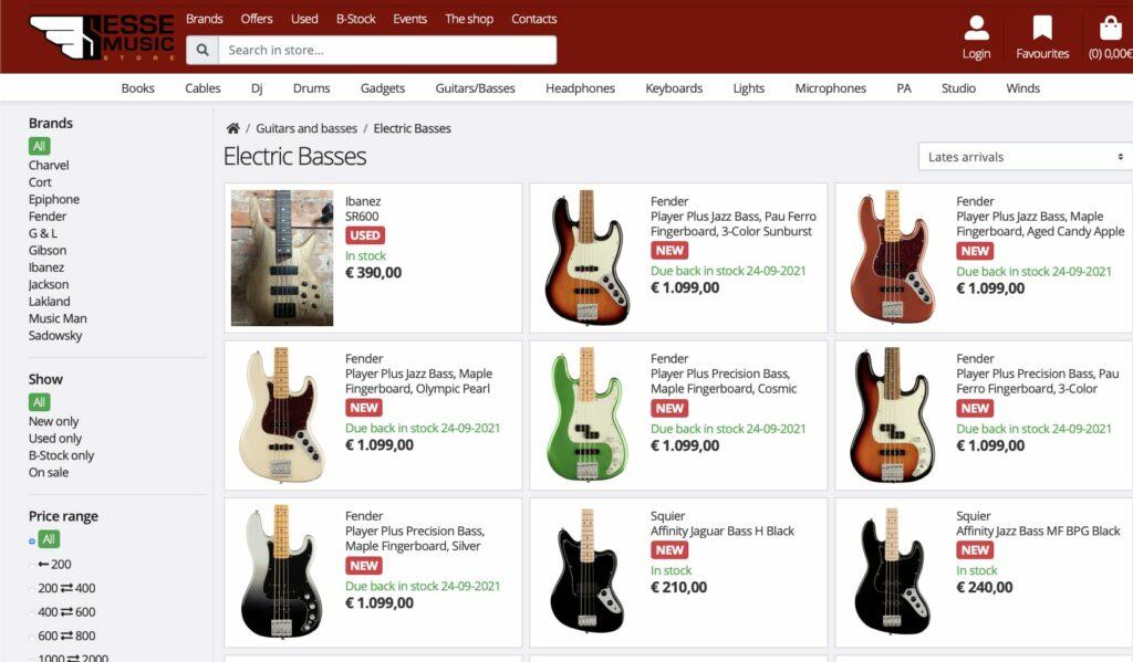 Басы Fender Player Plus Series