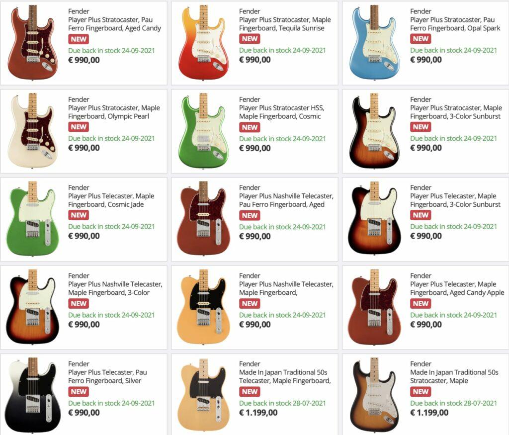 Электрогитары Fender Player Plus Series