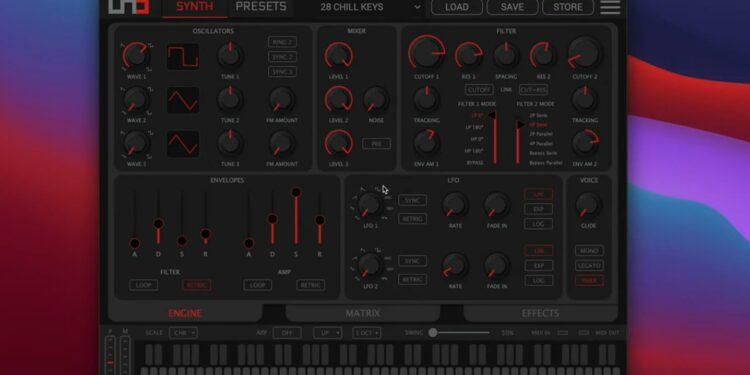 IK Multimedia UNO Synth Pro Editor редактор параметров синтезатора