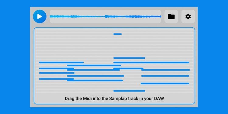 Samplab позволит менять высоту нот в записанном полифоническом аудио