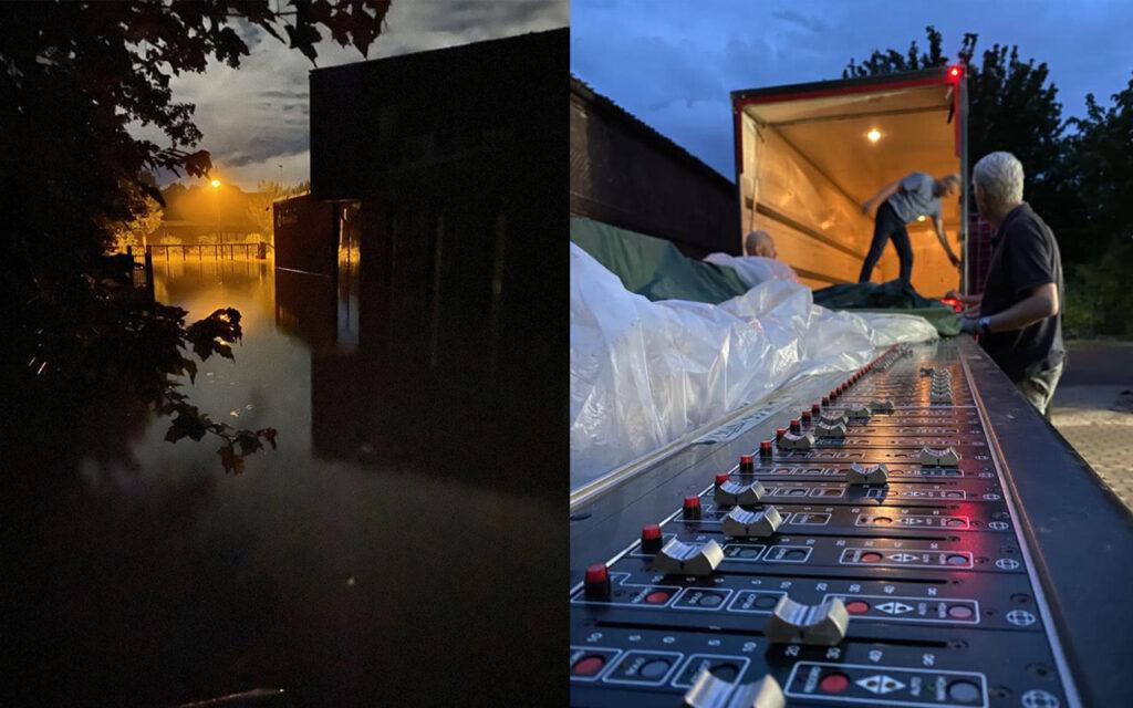 Студия Brainworx после наводнения в Германии уничтожена