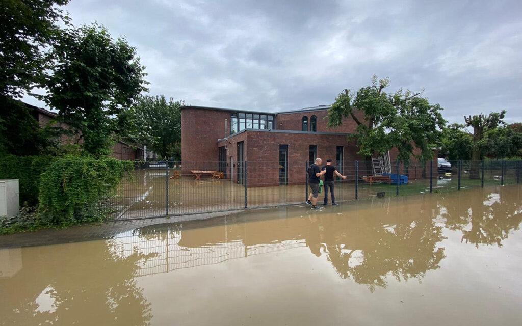 Студия Brainworx после наводнения в Германии