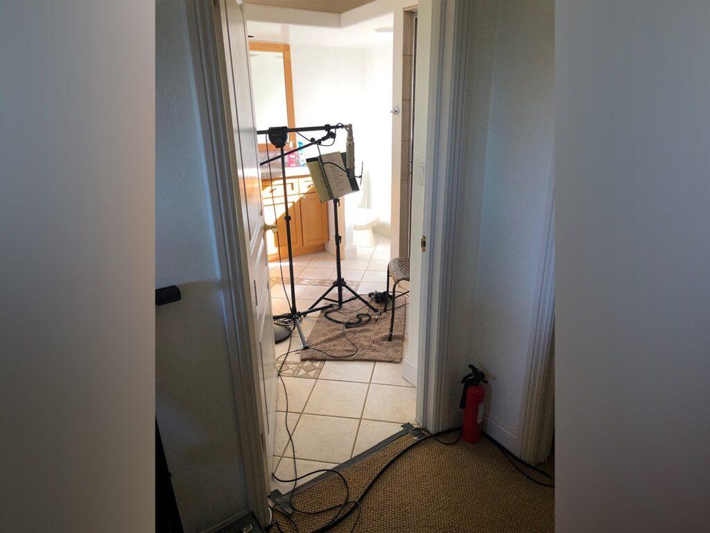Вокальная комната в ванной комнате дома в Энсино Foo Fighters Medicine at Midnight