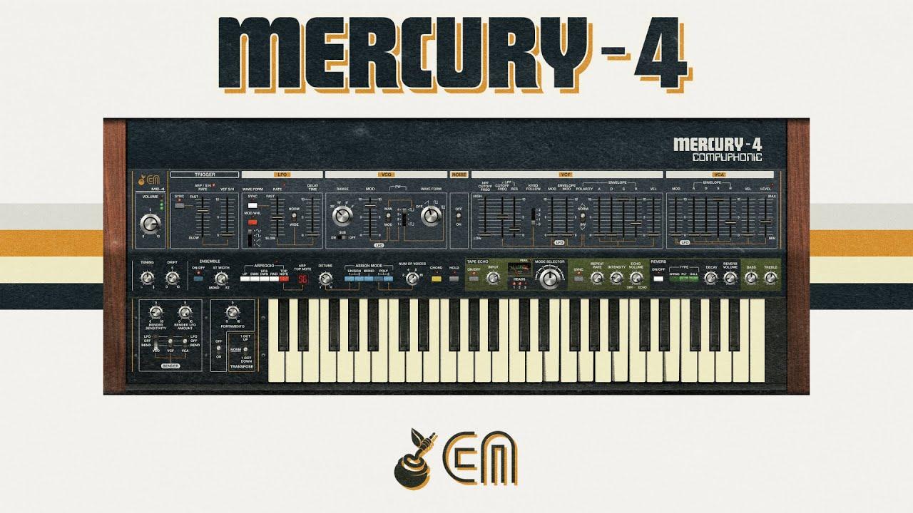 Cherry Audio Mercury-4 воссоздаёт звучание винтажного Roland Jupiter-4