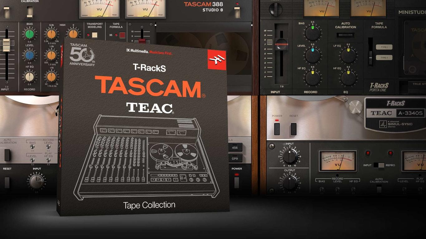 T-RackS Tascam Tape Collection эмулирует звучание студийных магнитофонов Tascam